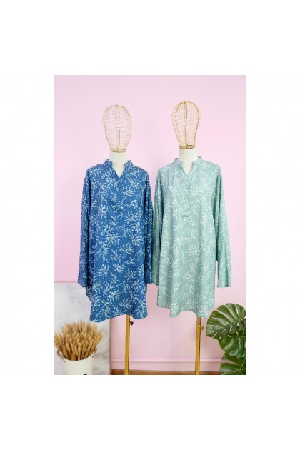 30064-5[Amoree] New arrival PLUS SIZE Floral Crepe Top  Fit 46-50